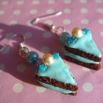 BLUE PEARL CAKE EARRINGS
