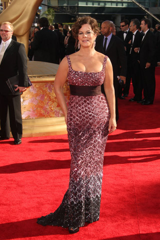 Marcia Gay Harden, in Badgley Mischka, with Chopard and Fred Leighton jewels