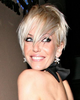 Sarah Harding Pixie Cropped Haircut