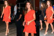Audrina Patridge In Orange Dress