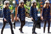 Anne Hathaway: Street Fashion