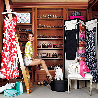 Woman in her Closet