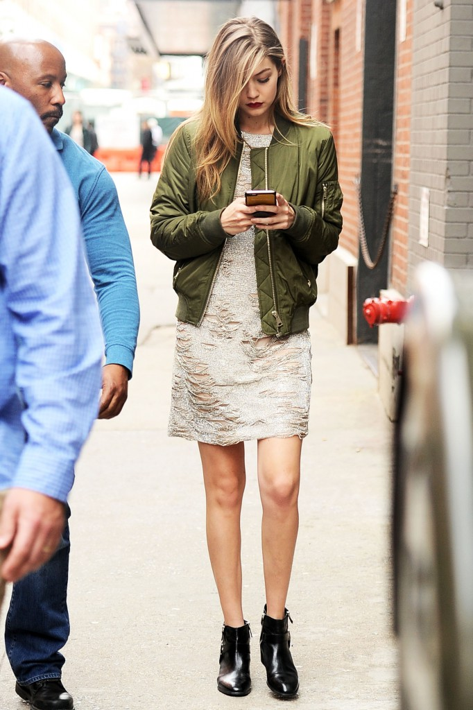 Gigi Hadid steps out looking stunning as she goes to a photoshoot at MILK studios in New York City.